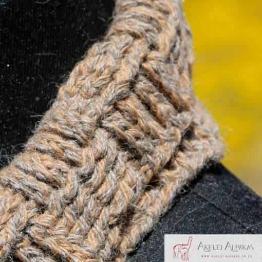 Alpaca Cowl Brown Grey